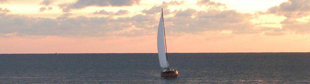ship sails away