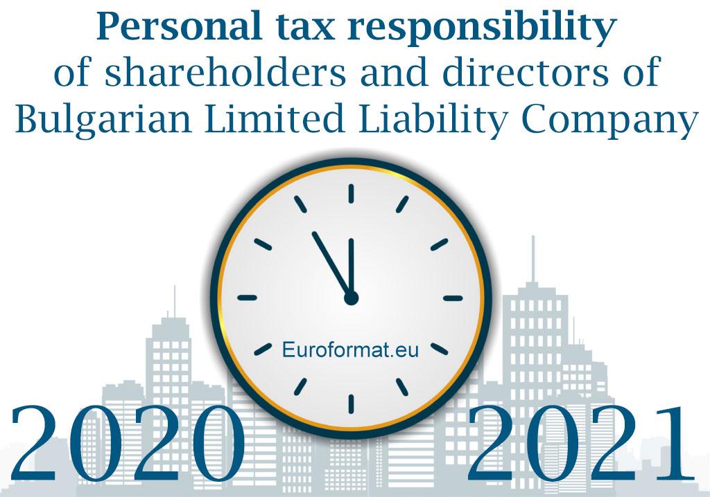 personal tax responsibility Bulgaria
