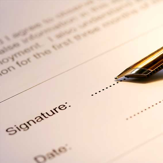 signing notary deed